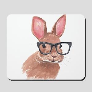 Nerd Bunny Mousepad