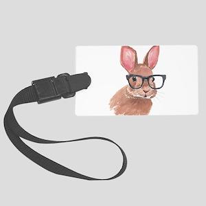 Nerd Bunny Luggage Tag