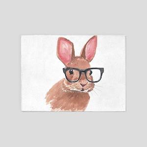 Nerd Bunny 5'x7'Area Rug