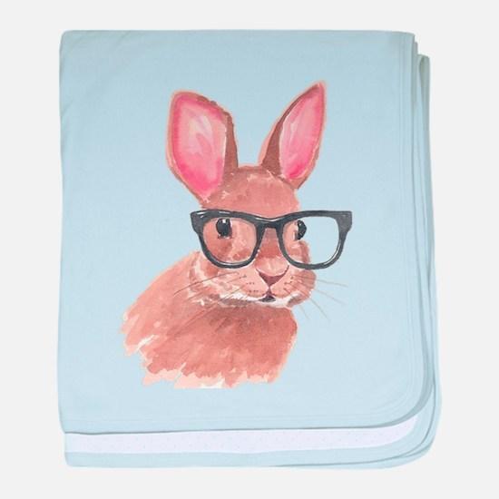 Nerd Bunny baby blanket