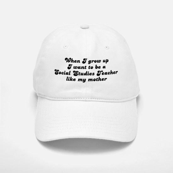 Social Studies Teacher like m Baseball Baseball Cap
