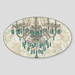 modern chandelier damask fashion paris art Sticker