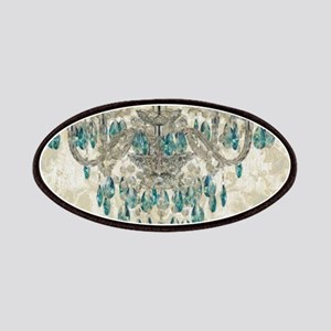 modern chandelier damask fashion paris art Patches