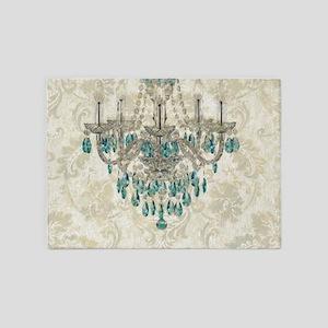 modern chandelier damask fashion paris art 5'x7'Ar