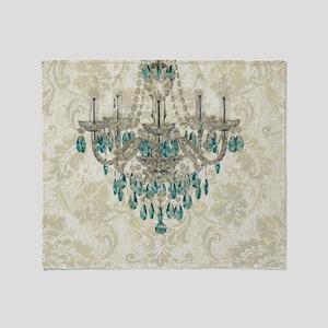 modern chandelier damask fashion paris art Throw B