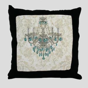modern chandelier damask fashion paris art Throw P