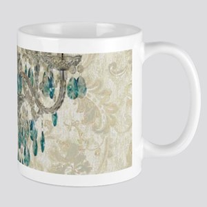 modern chandelier damask fashion paris art Mugs