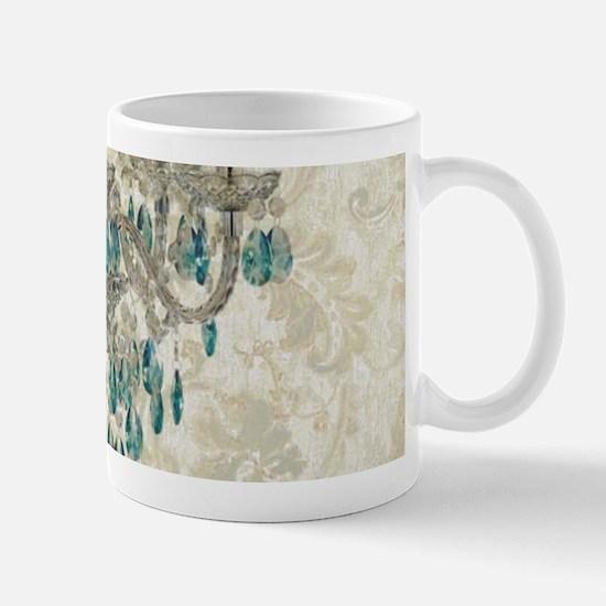 modern chandelier damask fashion paris art Mugs