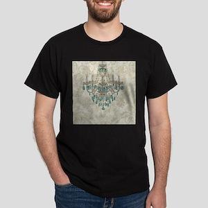 modern chandelier damask fashion paris art T-Shirt