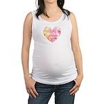 Christian Heart Pink Maternity Tank Top
