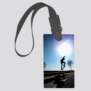 Against the Sky Large Luggage Tag