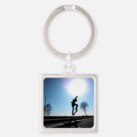 Against the Sky Square Keychain