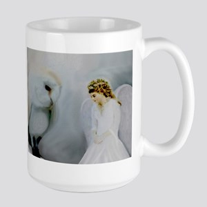 Guardian Angel and White Owl Mugs