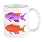 Yellowstriped Fairy basslet Anthias Couple c Mugs