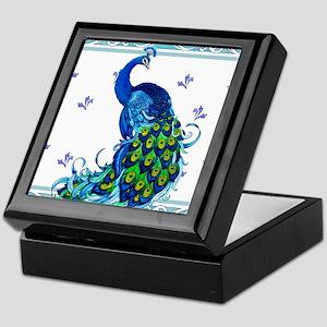 Peacock Swirl Keepsake Box