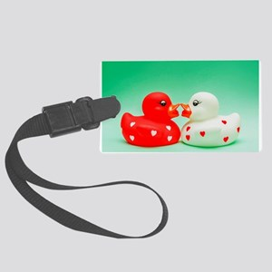 Kissing Ducks Large Luggage Tag