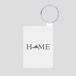 Virginia Home Aluminum Photo Keychain