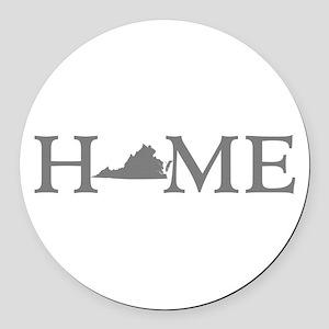 Virginia Home Round Car Magnet