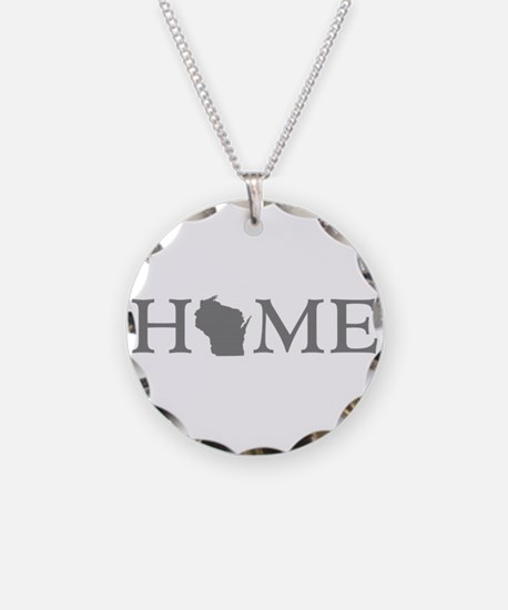Wisconsin Home Necklace