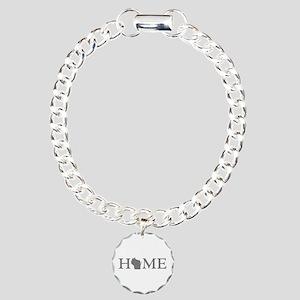 Wisconsin Home Charm Bracelet, One Charm