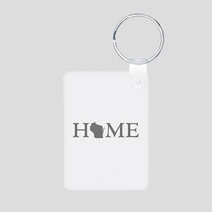 Wisconsin Home Aluminum Photo Keychain