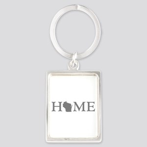 Wisconsin Home Portrait Keychain