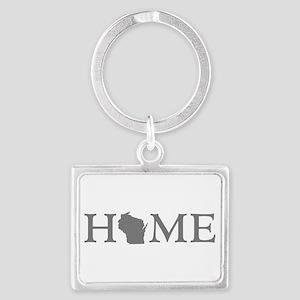 Wisconsin Home Landscape Keychain