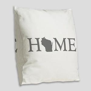 Wisconsin Home Burlap Throw Pillow