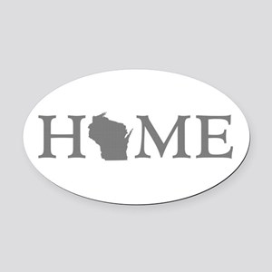 Wisconsin Home Oval Car Magnet