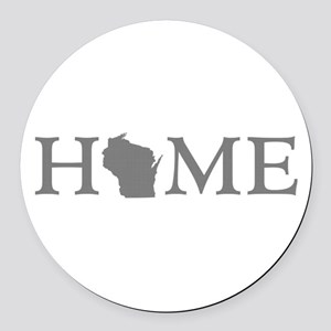 Wisconsin Home Round Car Magnet