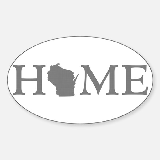 Wisconsin Home Sticker (Oval)