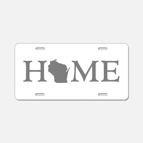 Wisconsin Home Aluminum License Plate