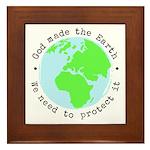 Protect God's Earth Framed Tile