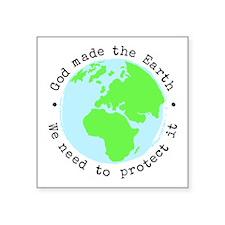 Protect God's Earth Square Sticker 3