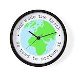 Protect God's Earth Wall Clock