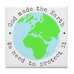 Protect God's Earth Tile Coaster