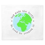 Protect God's Earth King Duvet