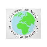 Protect God's Earth Throw Blanket