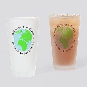 Protect God's Earth Drinking Glass