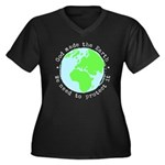 Protect God' Women's Plus Size V-Neck Dark T-Shirt