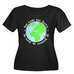 Protect Women's Plus Size Scoop Neck Dark T-Shirt