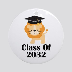 Class of 2032 Graduate (lion) Ornament (Round)