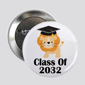 "Class of 2032 Graduate (lion) 2.25"" Button"