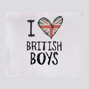 British Boys Throw Blanket