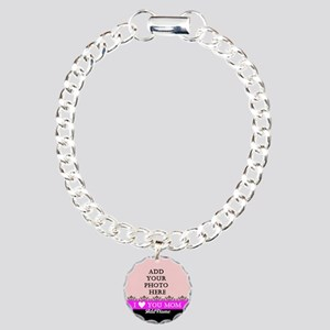 I Love You Mom Charm Bracelet, One Charm