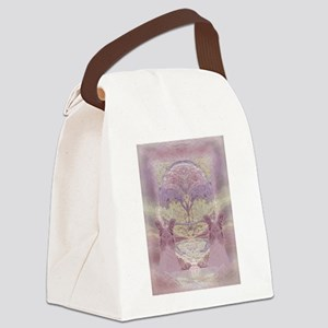 Two Angels in Pink Canvas Lunch Bag