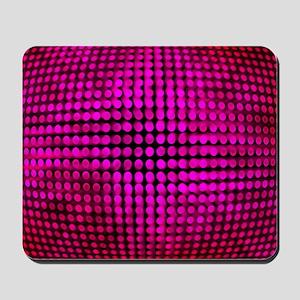 Bold Raspberry Visual Illusion Mousepad
