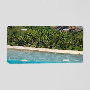 Yasawas beach, Fiji Aluminum License Plate
