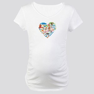 Argentina World Cup 2014 Heart Maternity T-Shirt