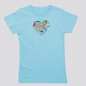 Argentina World Cup 2014 Heart Girl's Tee